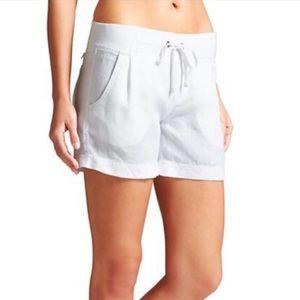 NWT Athleta White Linen Creston Shorts Size 4